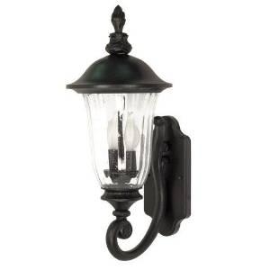 (USA Warehouse) Nuvo Lighting 60/978 Textured Black Three Light Up Lighting Outdoor Wall Sconce -/PT# HF983-1754424314