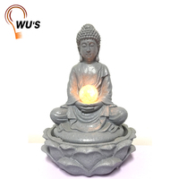 Fine appearance buddha statue water fountain solar water fountains with led