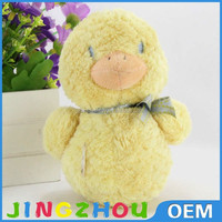 OEM design lovely plush duck toy with long body stuffed duckling dolls soft cartoon animal throw pillow