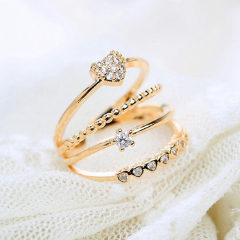 0ae217a3634fe 2016 Hot Fashion Women Jewelry Simple Elegant Crystal Rhinestone Rings 4  Layer Opening Design Kc Gold Plated Rings - Buy Ring Jewelry,Engagement  Ring ...