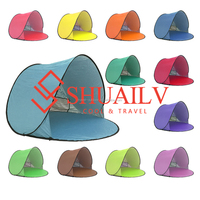 Sunscreen Shade UV Protection Beach Tent Chair Camping For Adults And Children 12 Colors 5 Ground Nails Sun Shelter Family Tents
