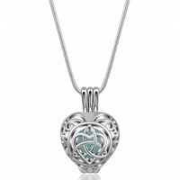 Wholesale Silver Pearl Cage Pendants Irish Knot Locket Celtic Love Necklace Jewellery