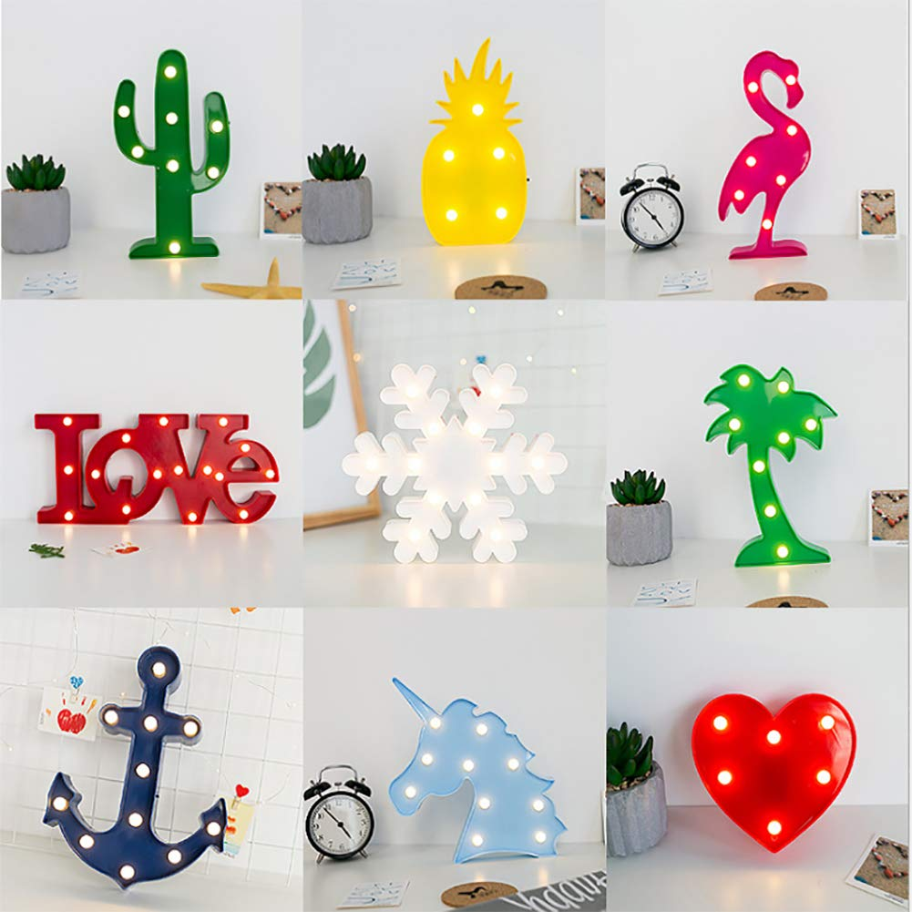 Hot Sale Battery power 3D Christmas Gift 5 LED Night Light Table Lamp Holiday Home Party Decorations Marquee Pineapple lamp