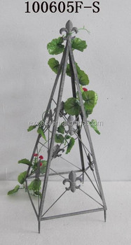 100605f-s Recycled Pyramidal Metal Garden Flowers Rack For Climbing ...