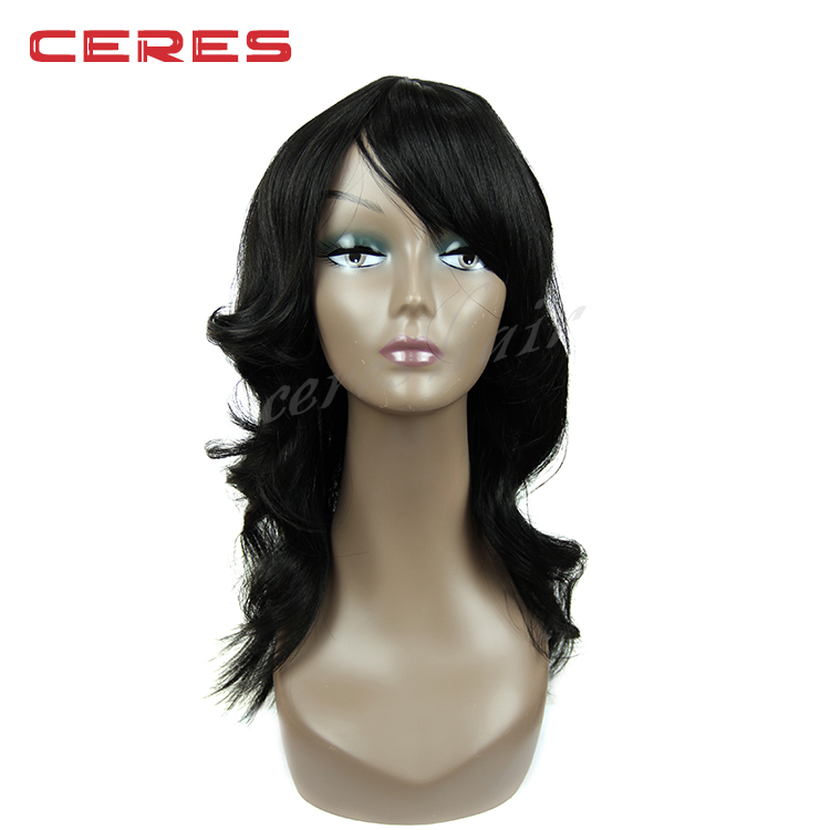 Large number stock overnight delivery Wholesale synthetic Hair Ceres Hair Front Lace Wig