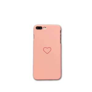 Simple one heart phone cases for iphone 7 6s plus couple black pink cover hard pc case for iphone xs for iphone xs max