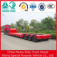 Chinese manufacturer low bed heavy equipment transport semi trailer for sale