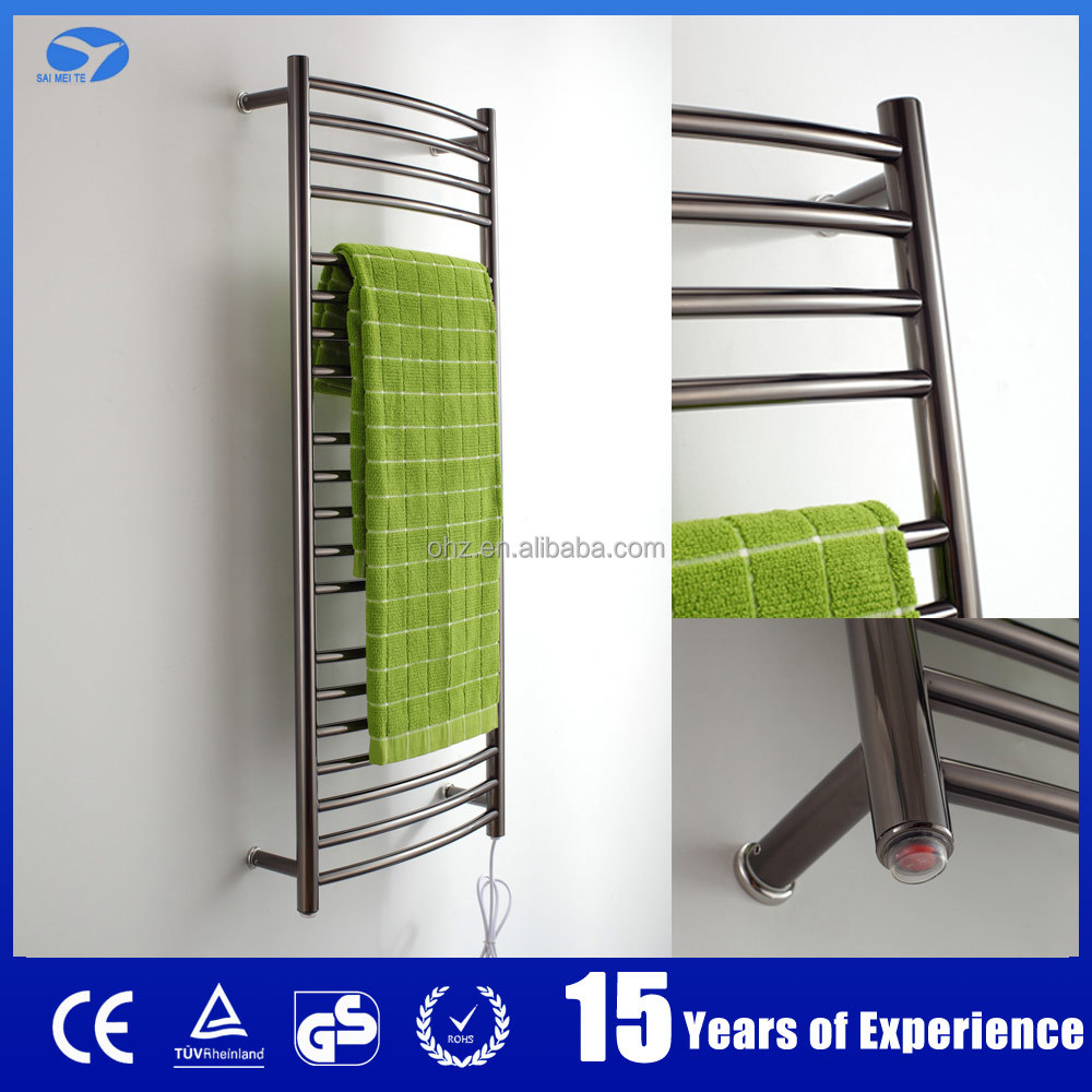 9001 new design wall mounted stainless steel black finishing heating towel rails towel radiator