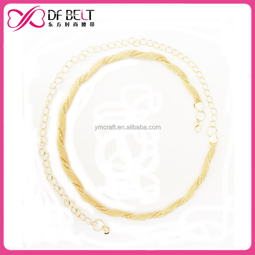 chain belt women metal chain belt