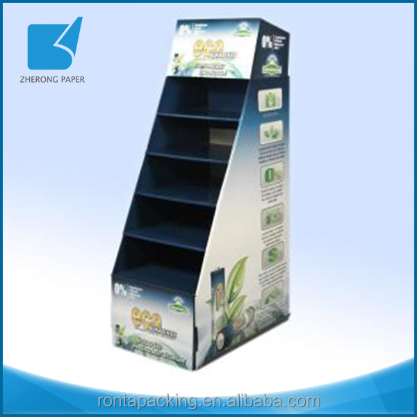 Eco-friendly custom brand advertising recycle several trays exhibition display stand