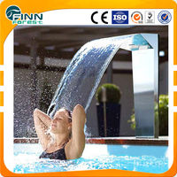 China Factory Supply 50cm water outlet stainless steel pool shower