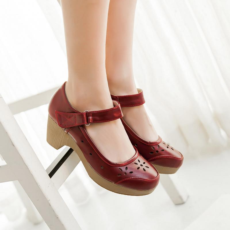Ladies Wedge Mary Jane Shoes