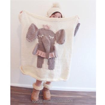 Häkeln Decken Elefanten Modell Baby Teppiche Handgemachte Gestrickte