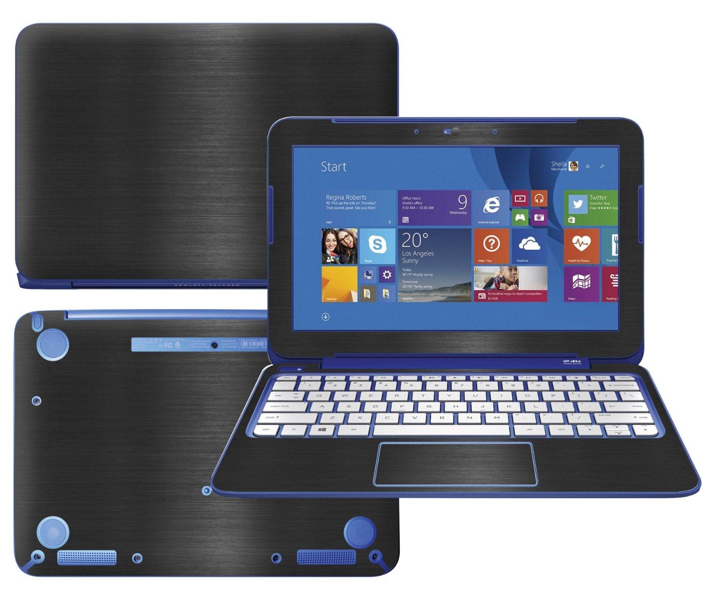 "Get Quotations · Decalrus - HP Stream 11-d010nr ( 11.6"" screen) laptop  Fullbody BLACK Texture"