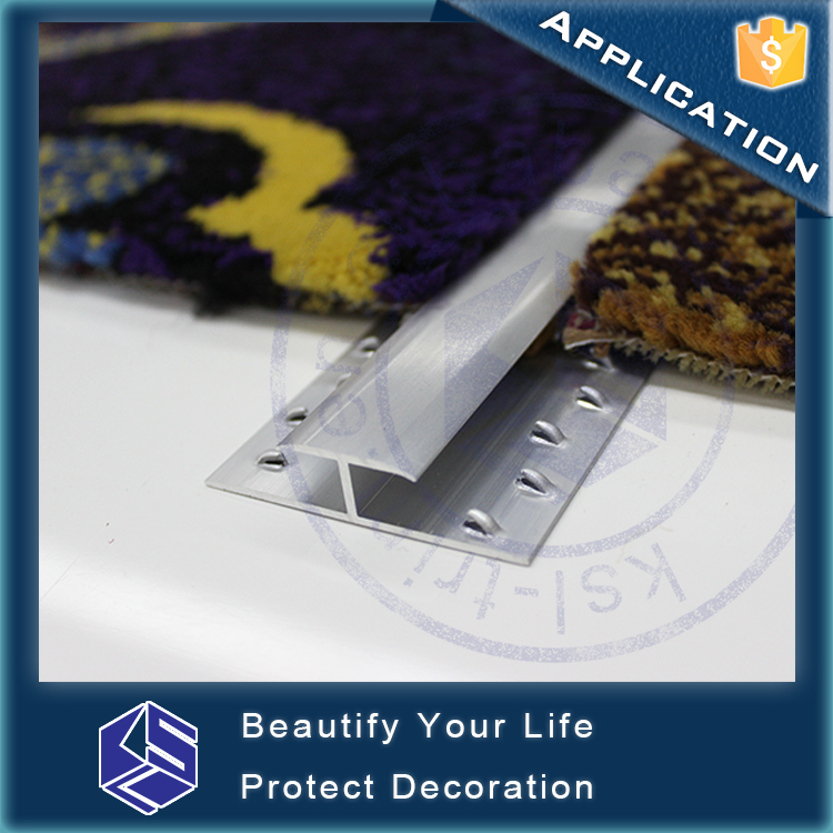 Eco-friendly silver cover carpet transition strips