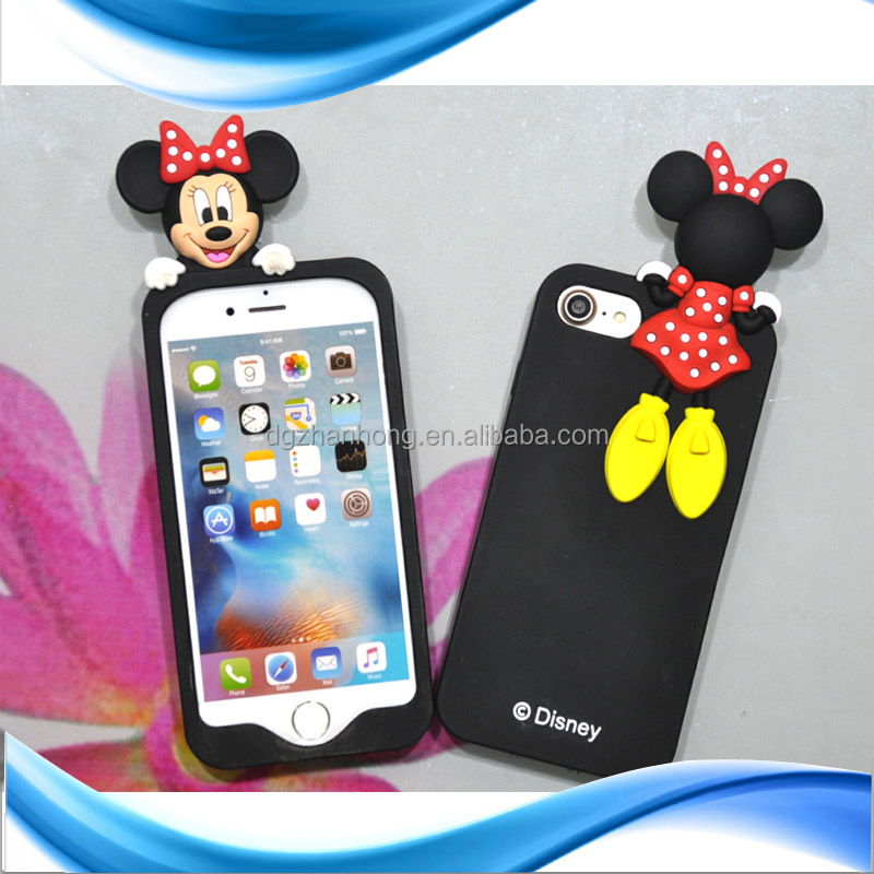 3D Cute animal silicone case for iphone 3g