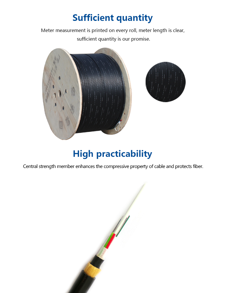 all dielectric double HDPE protector ADSS fiber optic cable price