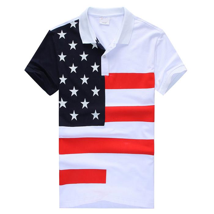 Xchenda Women USA American Flag Top Star Stripe Loose Fit Short Sleeve Patriotic 4th July T Shirts