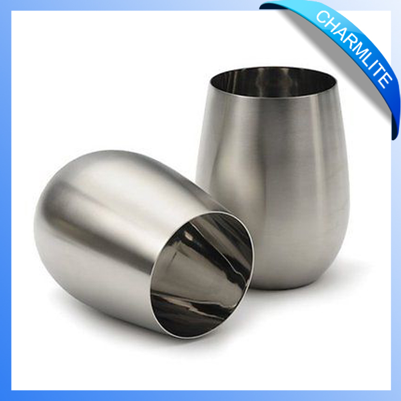18oz Stainless Steel Wine Cup, Stemless Wine Glass