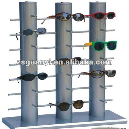 Personalizado gafas de sol pantalla/simple Morden sunglass display rack/sunglass soporte