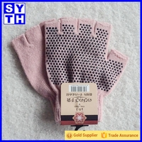 Amazon Supplier Non Slip Men Women Sportswear Half Finger Open Toe Silicone Slip Resistant Gloves Yoga Pilates Glove