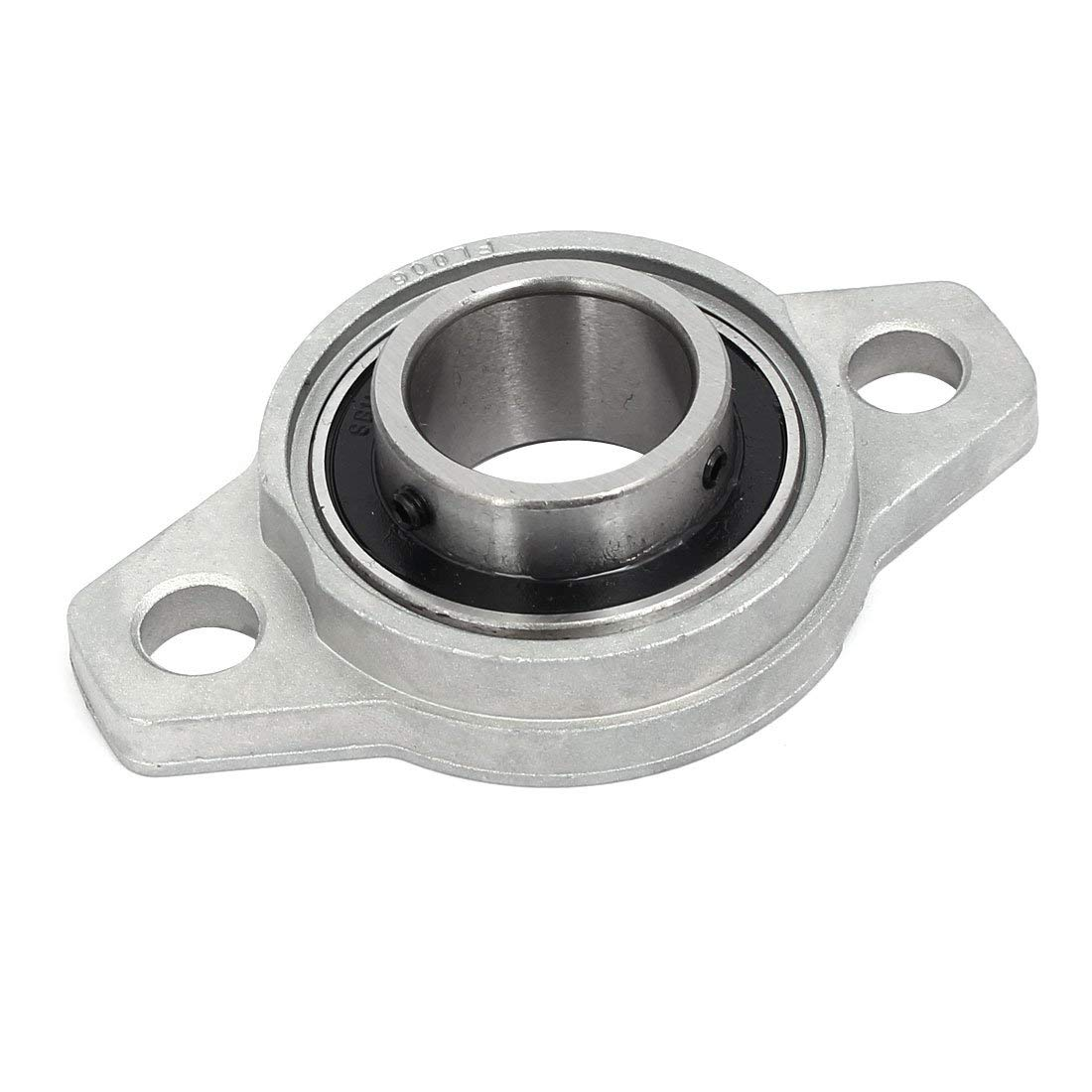 uxcell FL006 30mm Bore Zinc Alloy 2-Bolt Self-aligning Flange Mounted Ball Bearing