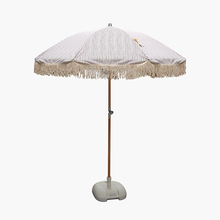 The New Adjustable Wood pole tassel Beach umbrella