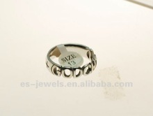 wholesale fashion jewelry God Child stainless steel biker rings
