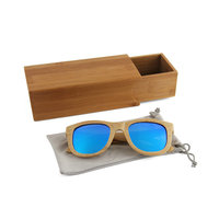 Fashion trend men women suunglasses colorful lenses and full rim hand made bamboo temple sunglasses with private logo