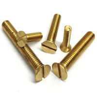 M2.5 M3 M4 M5 flat countersunk philips head brass copper screw