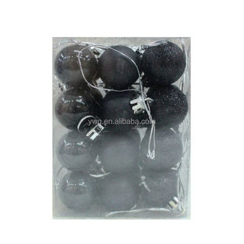 Black Christmas Balls.24 Pcs 4 Cm Black Christmas Tree Xmas Balls Decorations Baubles Party Ornament Buy Special Gifts Plastic Balls Christmas Decorated Balls Product On