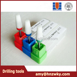 Electric ceramic nail drill bits for nail machine