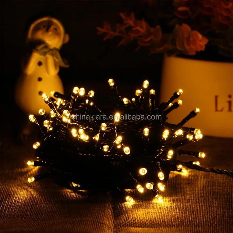 Wedding Fairy Christmas Lights Outdoor Twinkle Christmas tree Decoration Transparent Cable 10M 100 LED String Lights