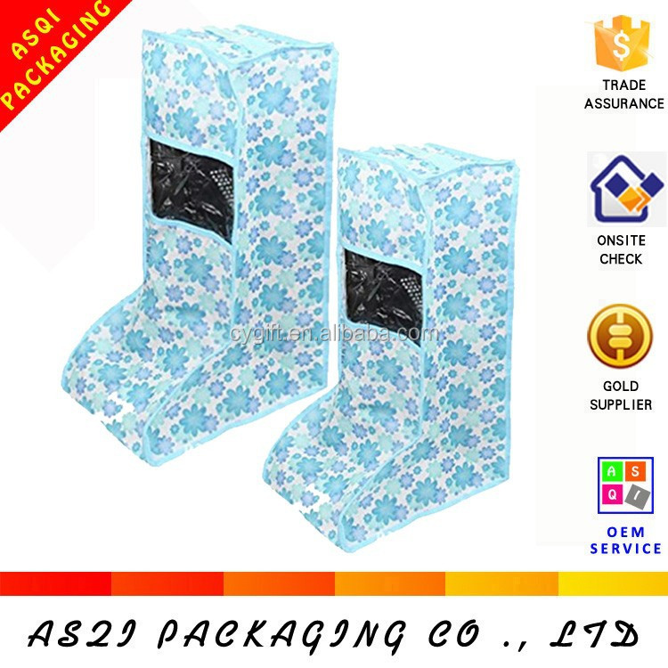 fashion reusable dustproof pretty small broken flower printed storage shoes bag online for packaging boot