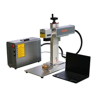 Best selling 20W 30W 50W MAX Raycus rotary portable small mini fiber laser marking machine price