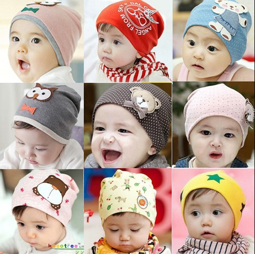 1483014ee44 kids infant boy girl baby hat caps toddler beanies cotton bonnet children  accessories