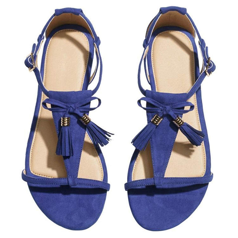 795f7d54ea4 Get Quotations · Summer Flat Shoes Black Women Fringe Sandals Summer Shoes  Flat Sandals Tassel Women Shoes Ladies Sandals