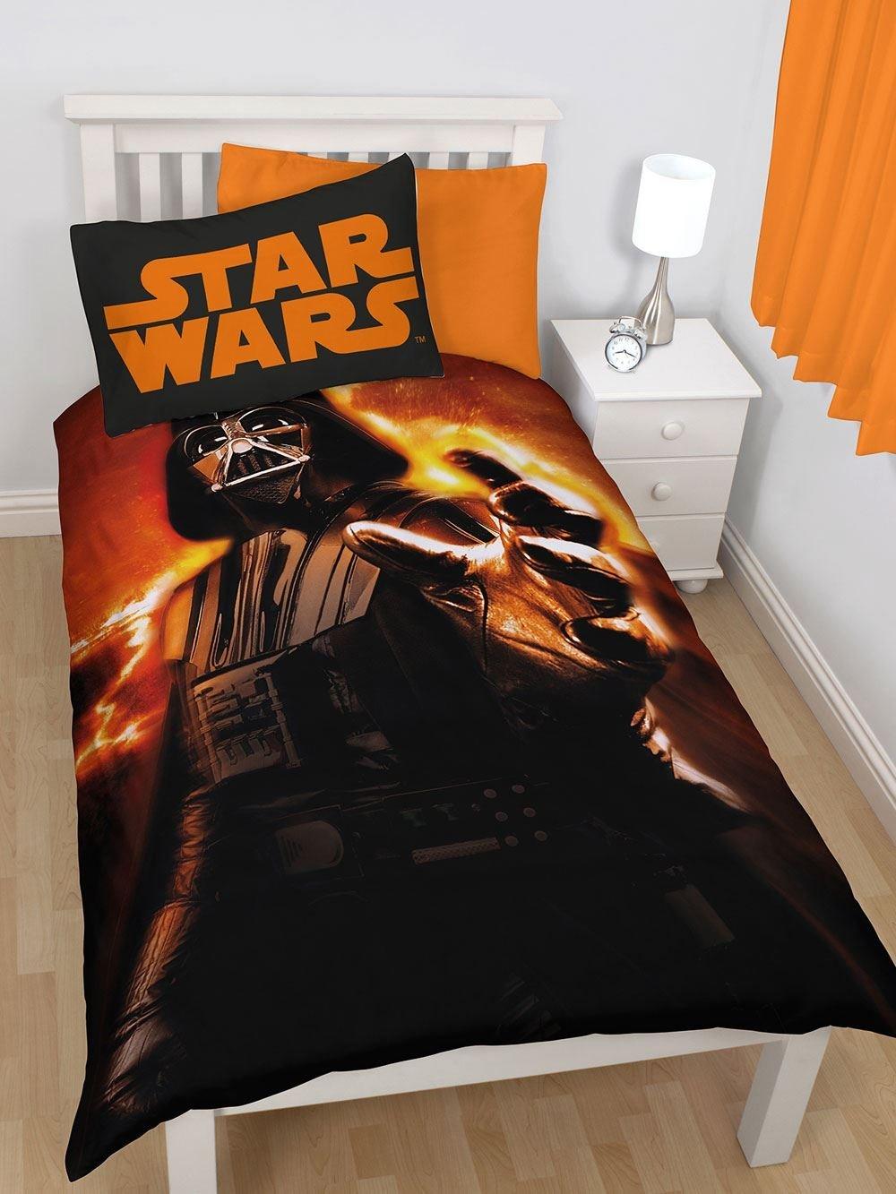 Disney Star Wars Darth Vader Rise Single/US Twin Panel Duvet Cover + Darth Vader Go Glow Hero