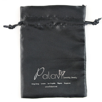 Custom satin drawstring pouch custom drawstring