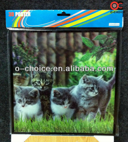 ZB-99 New Products 2013 3d Cat Pictures To Print 3d Animal Picture