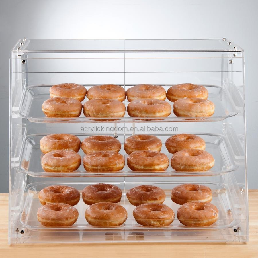 3 Tray Acrylic Bakery Display Case With Rear Door - Buy Acrylic ...