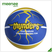Customized rubber basketball