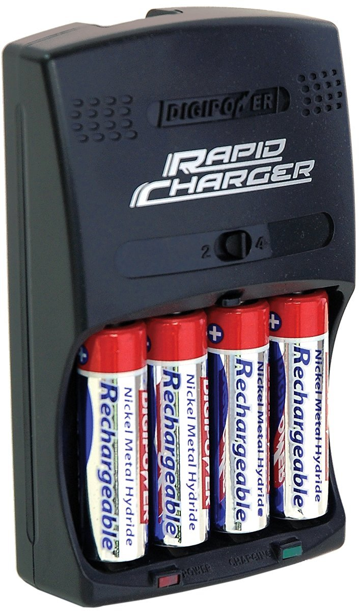 DigiPower DPS-3000+ 3-Hour AA/AAA Rechargeable Battery Kit with 4 AA 2700 mAh Batteries and Car Charger