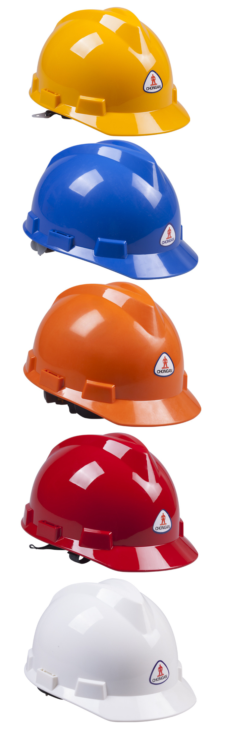 TZYA-59A High Quality Plastic All color ABS V-type Safety Helmet with Chin Strap