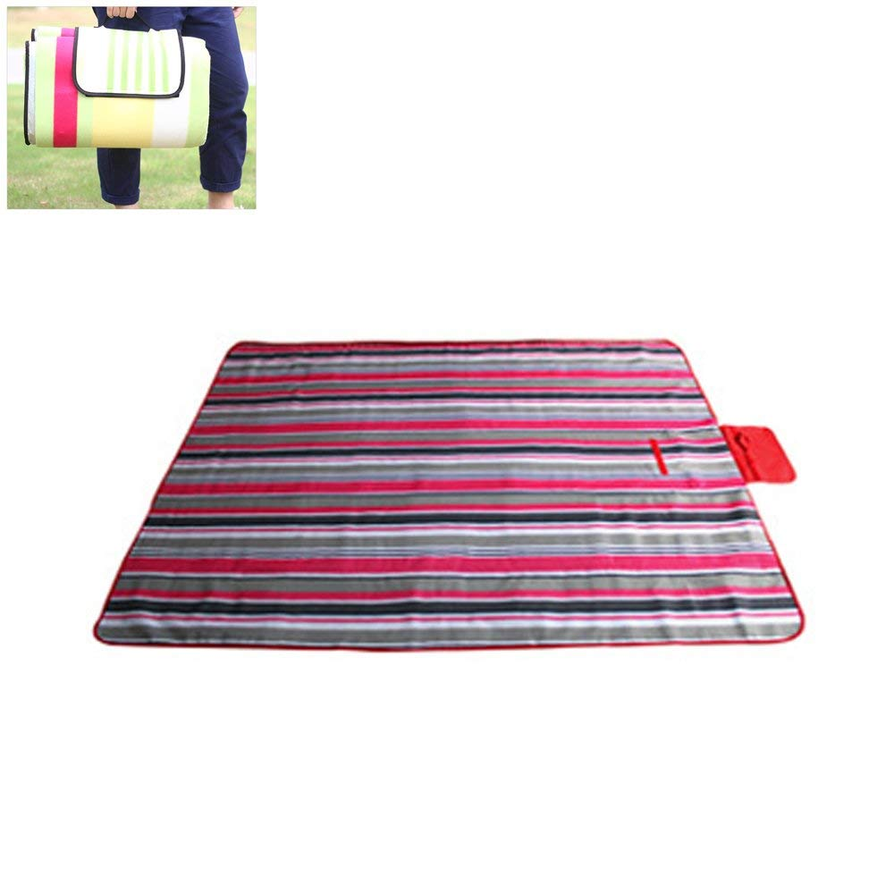 Umiwe Picnic Blanket Rug Mat Waterproof Sand-proof, 200 x 150cm Foldable 600D Oxford Backing Outdoor Beach Camping Blanket Rug Mat with Handle