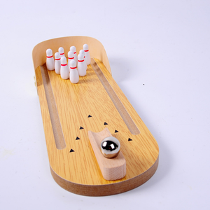 New design kids mini wooden bowling set toy hot sale funny bowling ball toy