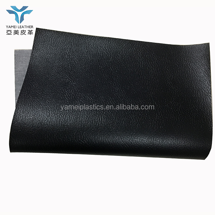 knitted pvc black leather for car seat synthetic leather