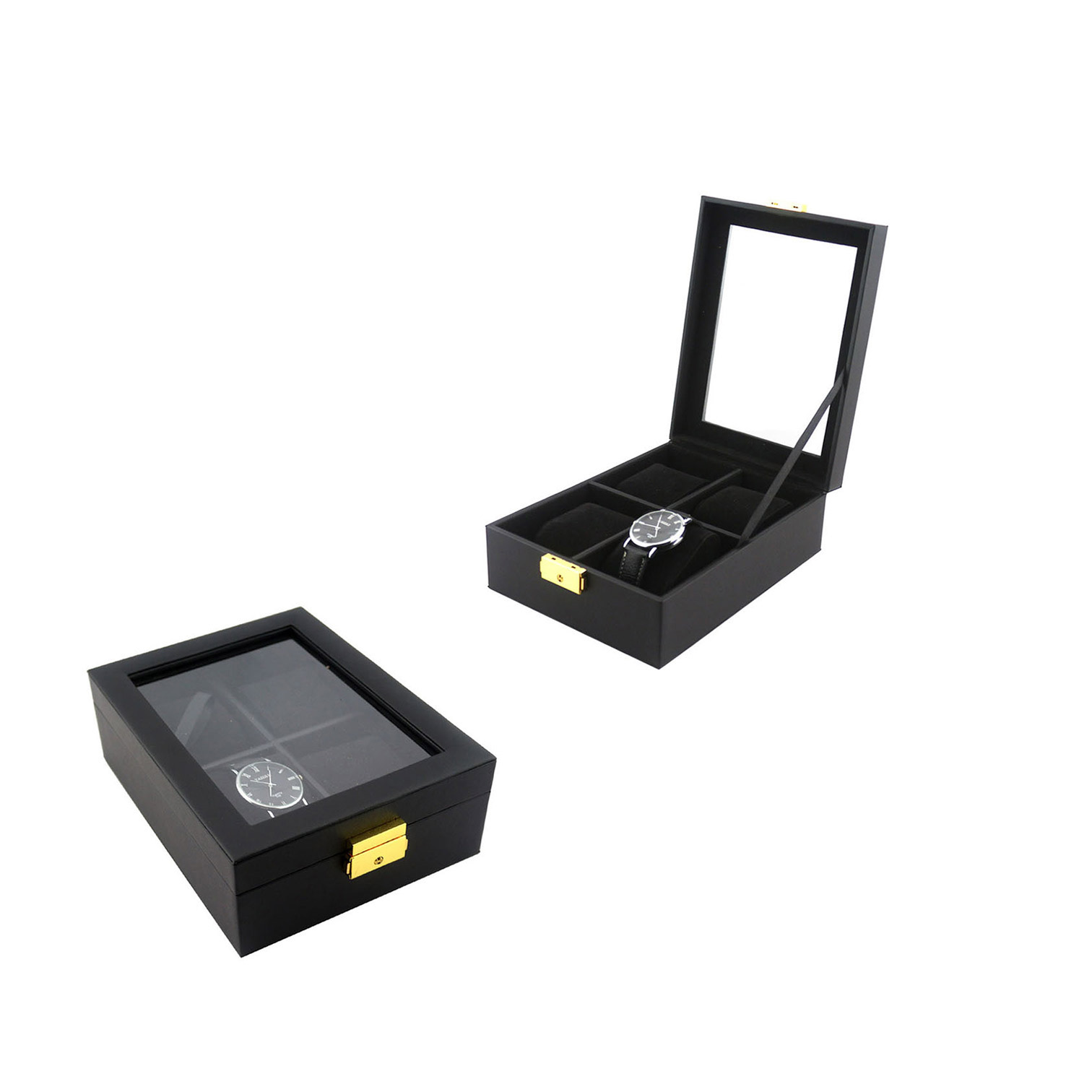 smart watch 2019 custom watch box wood black single luxury wrist watch box