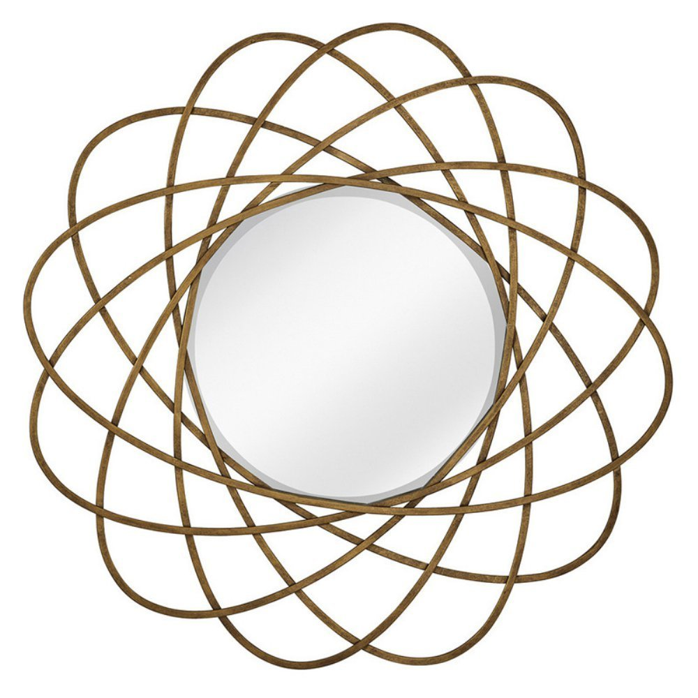 Majestic Mirror Atom Shaped Beveled Glass Decorative Accent Wall Mirror - 40W x 40H in.
