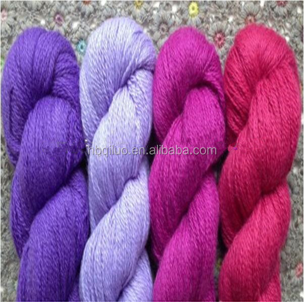 China manufacturer supply sweater knitting yarn cheap price 100% Softness high bulk blended wool acrylic yarn hand knitting
